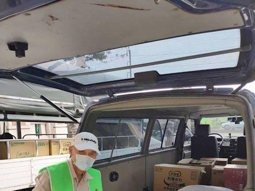 25年開貨車資歷 70歲阿公重返職場搬運愛心物資