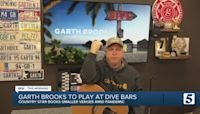 Garth Brooks moves to dive bars for live performances