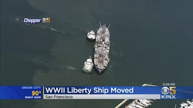 Historic WWII Liberty Ship Jerimiah O'Brien Moved Away From Pier 45 After Weekend Fire
