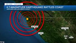4.7-magnitude quake shakes North Coast of San Luis Obispo County