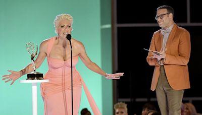 Hannah Waddingham jokingly chooses revenge after hearing Seth Rogen mispronounced her name at Emmys
