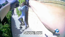 New bodycam video show how Tustin police officers shot a homeless man