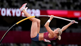 Katie Nageotte embraces her 'surreal' moment after winning gold in pole vault