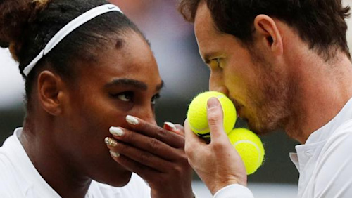 Andy Murray and Serena Williams wow Wimbledon again in mixed doubles
