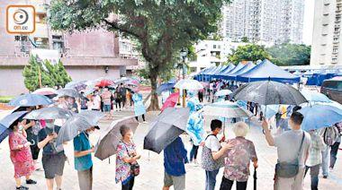 街坊冒雨排隊檢測 擔心社區爆發 - 東方日報