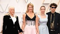 Laura Dern brings her proud mom and teen kids to Academy Awards... as she vies for Marriage Story Oscar