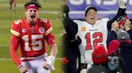 What are the odds for Super Bowl LV passing yards between Patrick Mahomes and Tom Brady?