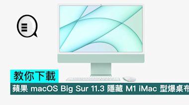 教你下載,蘋果 macOS Big Sur 11.3 隱藏 M1 iMac 型爆桌布