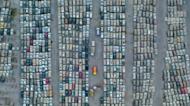 震撼! 空拍鄭州「泡水車墳場」... 估至少40萬輛車受損