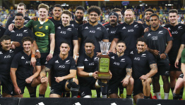NZ beats Springboks in 100th test to win Rugby Championship