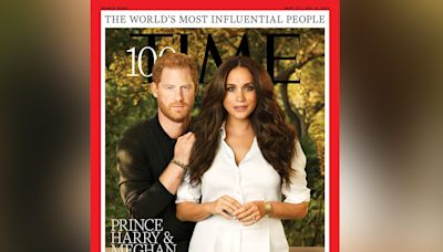 Prince Harry and Meghan Markle feature on Time's cover as they make its 100 most influential people list