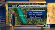 Winter weather advisory for Sunday night