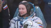 Russian actress returns to Earth after orbital movie shoot