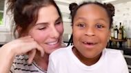 Sandra Bullock & Daughter Laila Honor Nurse In Rare Video Appearance For Mother's Day