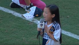 7-year-old stuns crowd singing 'Star-Spangled Banner' at national US soccer game