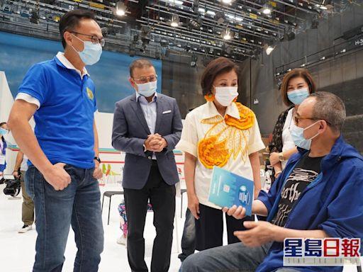 電視城280員工打疫苗 聶德權汪明荃現身打氣
