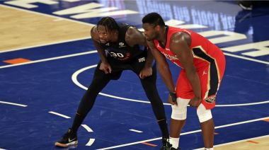 NBA/藍道、威廉森飆分對決 尼克延長爆發擒鵜鶘6連勝
