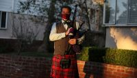 Bagpiper plays 'Amazing Grace' on California beach to remember coronavirus victims