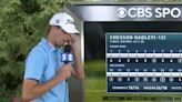 Golfer Chesson Hadley fought through tears after a miraculous hole-in-one gave him the final spot in the FedEx Cup Playoffs