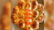 These 'Buffalo Chicken Football Biscuits' are perfect for game day
