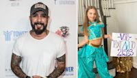 AJ McLean's Daughters Dressed up as Princess Jasmine to Root on Their Dad on 'DWTS' Disney Night