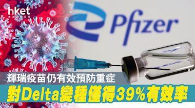 【輝瑞疫苗】以色列研究:應對Delta變種僅39%有效 仍可防重症 - 香港經濟日報 - 即時新聞頻道 - 國際形勢 - 環球社會熱點