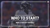 Who to start in fantasy football: Week 5 rankings, start-sit advice for PPR, standard, superflex scoring