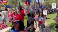 Trump Supporters Line Orlando Streets Ahead of CPAC Speech
