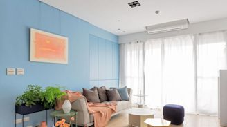 天天享有藍天白雲好療癒! 38坪新古典打造清新風尚宅