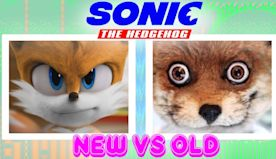 Sonic the hedgehog movie 2020 Tails the fox new vs old 2019 x
