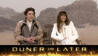 "Play ""Duner Or Later"" With Zendaya & Timothée Chalamet, Stars Of ""Dune"""