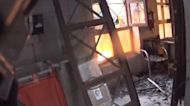 Firefighters Enter Building Hit by Explosion in Madrid