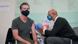 California virus cases stop falling, governor urges caution