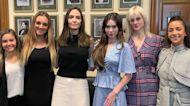 Angelina Jolie 'Honored' To Meet With McKayla Maroney & Aly Raisman: 'I'm In Awe Of Their Courage'