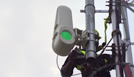 High-speed internet via airborne beams of light