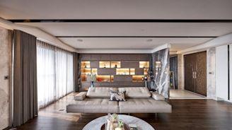 以細膩紋理與人文藝術特調 打造非凡氣勢的現代風宅邸