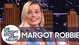 Margot Robbie Tastes Birds of Prey-Inspired Banana Bread Pudding for the First Time