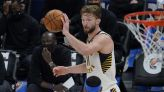 Sabonis has triple-double by half; Pacers top Thunder 152-95