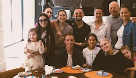 Demi Moore and ex Bruce Willis celebrated Father's Day with their blended family