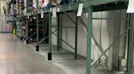 Empty Shelves in Philadelphia Supermarket as Coronavirus Cases Rise