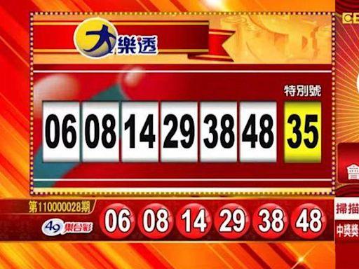 3/5 大樂透、雙贏彩、今彩539 開獎囉!