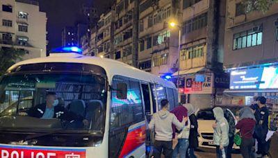 警破旺角元朗兩地下賭場 拘18男女