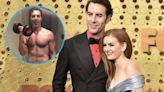 Isla Fisher Shows Off Husband Sacha Baron Cohen's Sexy Swimmer's Bod
