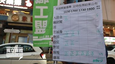 職工盟街頭模擬選舉 一半投白票廢票、「忠誠廢物」勝出 | 獨媒報導 | 香港獨立媒體網