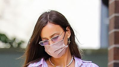 Irina Shayk Styles Spring's Hottest Color Trend for a Mother-Daughter Date