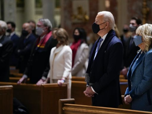 St. Matthew's Cathedral, where Biden attended pre-inauguration Mass, has long been a place where politics and faith meet