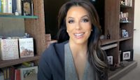 Eva Longoria shares a video of herself doing an intense trampoline workout video on a boat