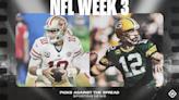 NFL picks, predictions against spread Week 3: Bucs burn Rams, Packers edge 49ers, Cowboys clip Eagles