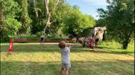 Canadian family adorably recreates Wimbledon match at home