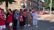 Danish Fans Await National Team Bus Ahead of Euro 2020 Match